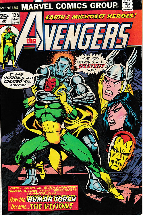 AVENGERS 135 Origin of the Vision Revised