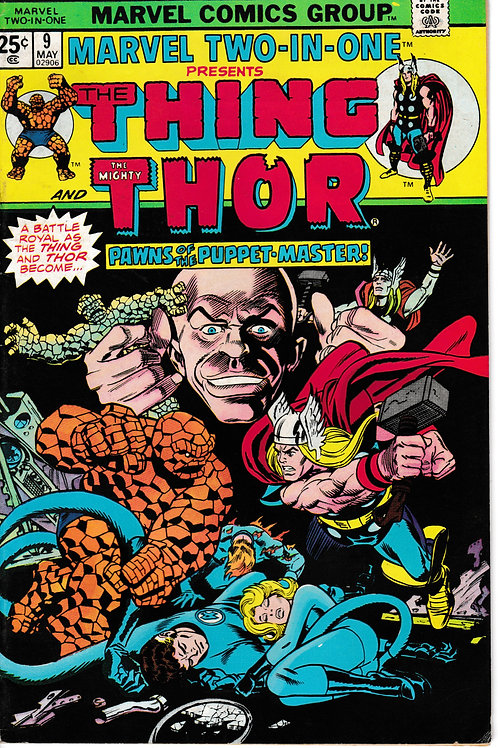 MARVEL TWO-IN-ONE 9 May 75 The Thing & Thor