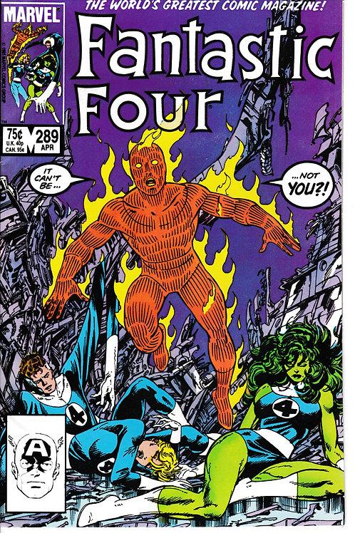 FANTASTIC FOUR 289 Apr 86 Guest-starring Nick Fury Story & Art John Byrne