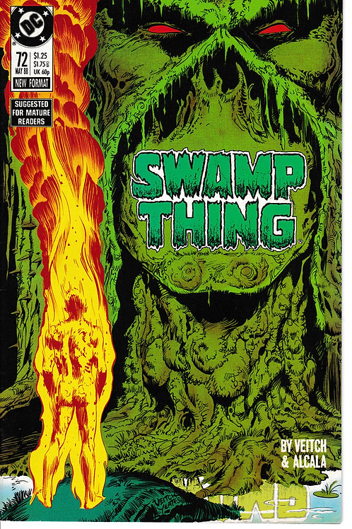 SWAMP THING 72 DC May 88 Guest-stars John Constantine