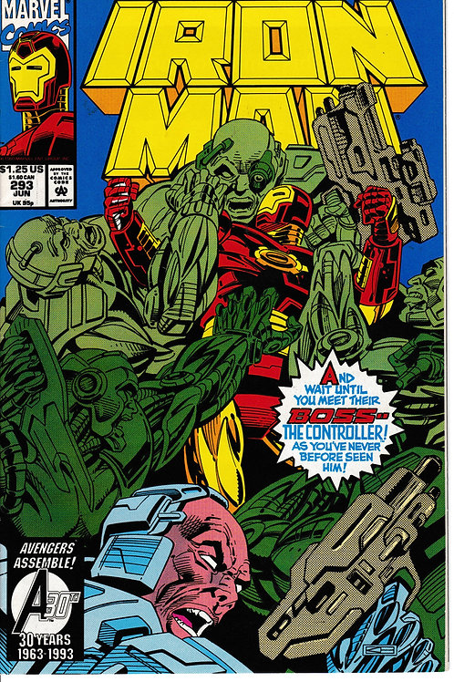 IRON MAN 293 Jun 93 NM Tony Stark Taken Hostage