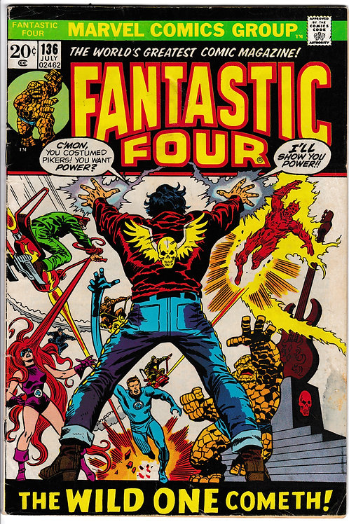 FANTASTIC FOUR 136 Jul 73 Marvel Vol 1 Shaper of Worlds Appearance