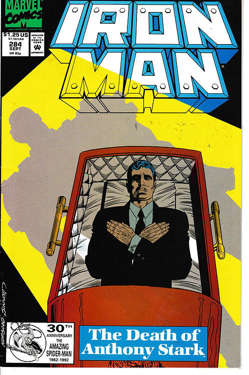 IRON MAN 284 Sept 92 Avengers Nick Fury & Doctor Doom Cameos