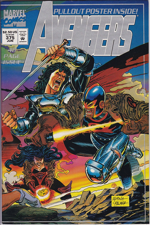 AVENGERS 375 Marvel Vol 1 Jun 94 Includes Pullout Poster