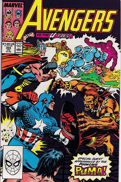 AVENGERS 304 Marvel Vol 1 Jun 89 N/M- Guest Stars Puma