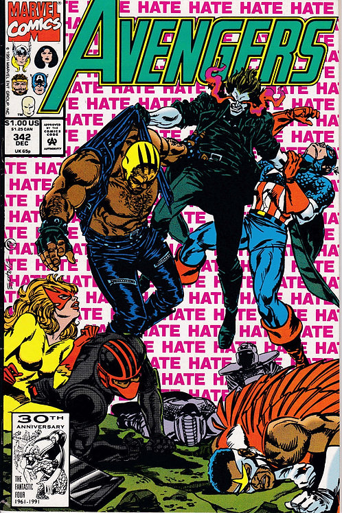 AVENGERS 342 Marvel Vol 1 Dec 91 Guest Stars New Warriors