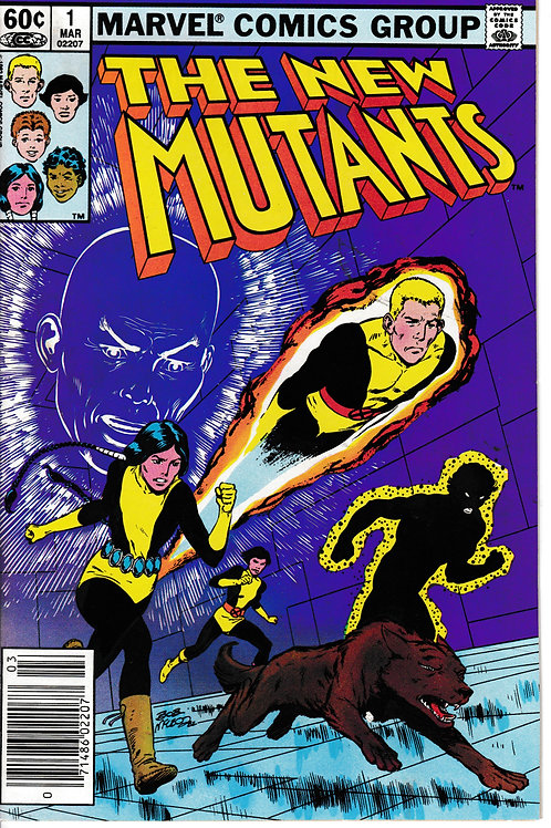 NEW MUTANTS 1 Mar 83 2nd Appearance of New Mutants