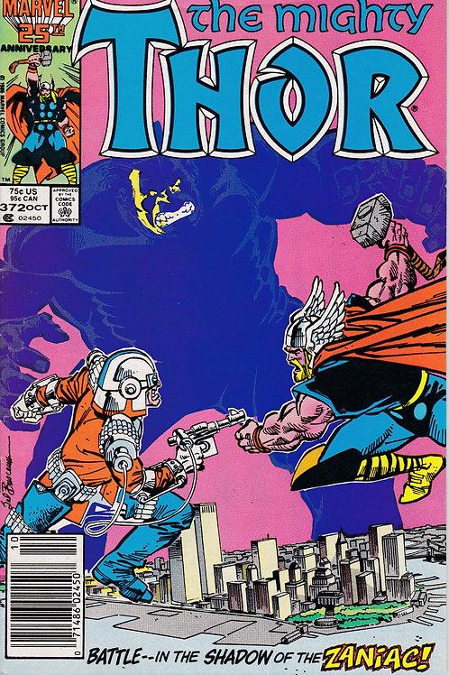 THOR 372  VF+ N/M Walt Simonson  Cameos Beta Ray Bill  Sif Hulk Balder