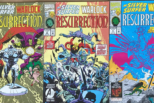 SILVER SURFER WARLOCK RESURRECTION 1993 Issues 1 2 & 4