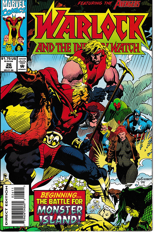 WARLOCK AND THE INFINITY WATCH 26 Marvel Mar 94 Guest Stars Avengers