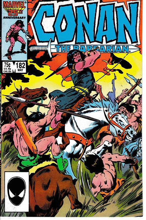CONAN THE BARBARIAN 182 May 86 Marvel Tetra & King Maddoc