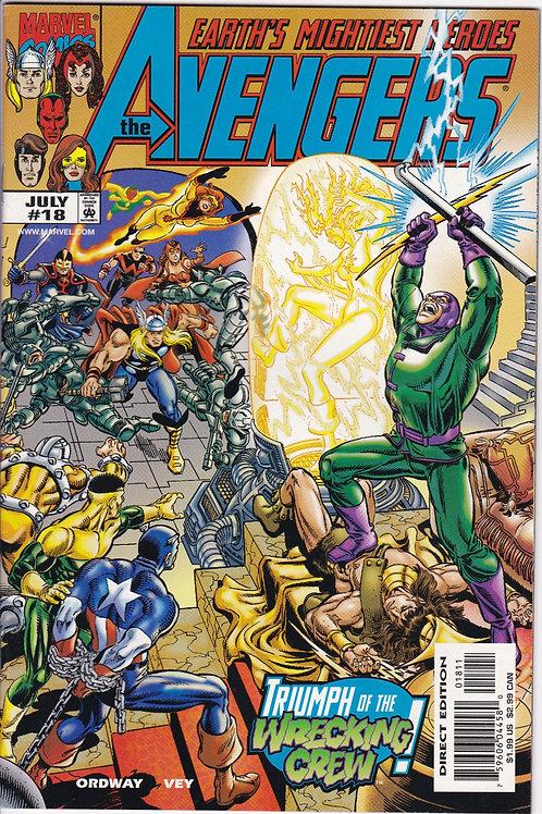 AVENGERS 18 Vol 3 Marvel July 99 N/M Guest Stars Photon & Black Knight