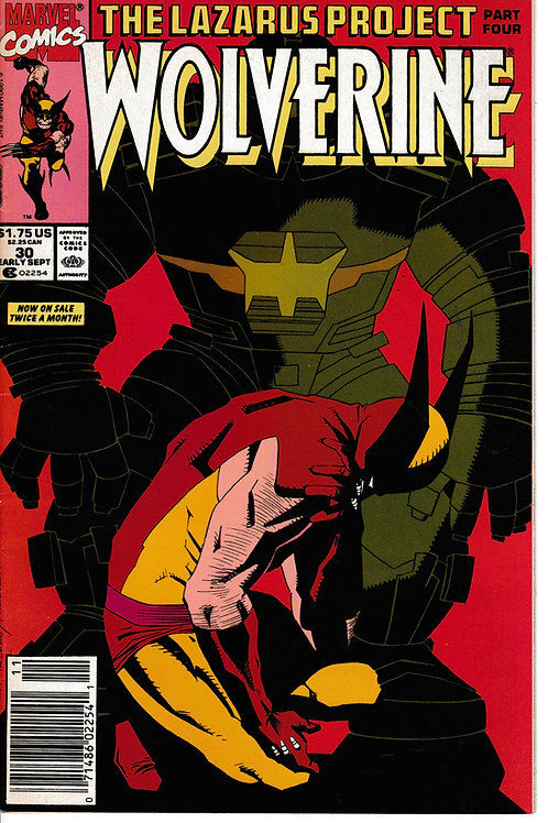 WOLVERINE 30 Marvel Sept 90  Lazarus Project Part 4 of 4