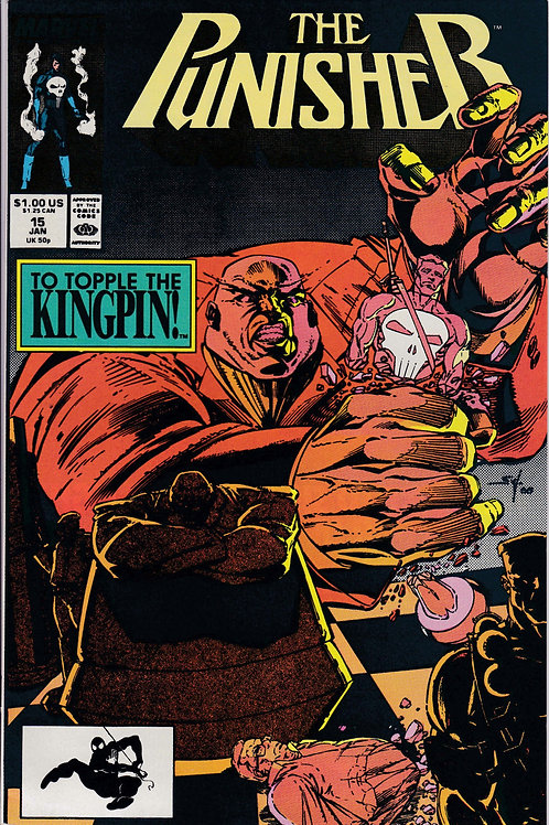 PUNISHER 15 Vol 2 Jan 89 Marvel Very Fine+ Kingpin