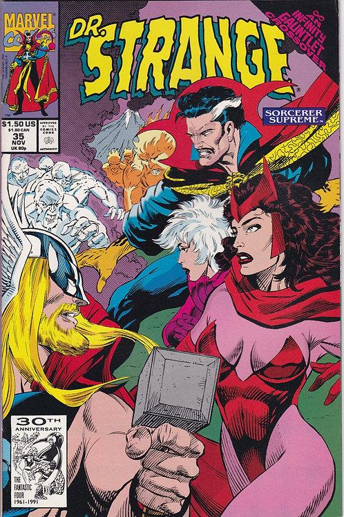 DOCTOR STRANGE SORCERER SUPREME 35 Marvel Nov 91 Infinity Gauntlet X-Over