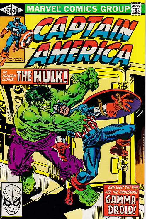 Captain America 257 Guest Stars The Hulk