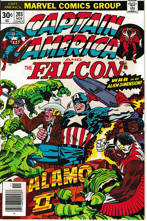 CAPTAIN AMERICA 203 Nov 76 Pencils Jack Kirby Falcon Texas Jack