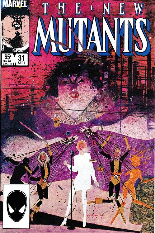 NEW MUTANTS 31 Marvel Sep 85 Empath & Catseye