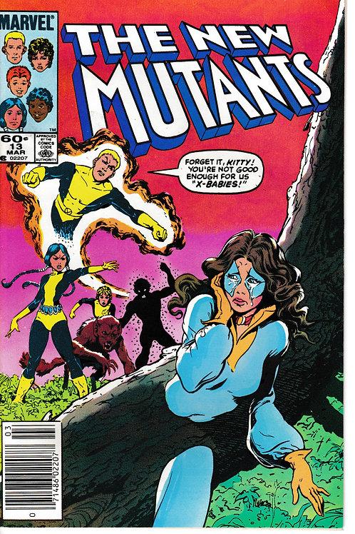 NEW MUTANTS 13 Marvel Mar 84 School Daysze script Chris Claremont
