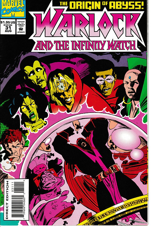 WARLOCK AND THE INFINITY WATCH 31 Marvel Aug 94 Origin Count Abyss