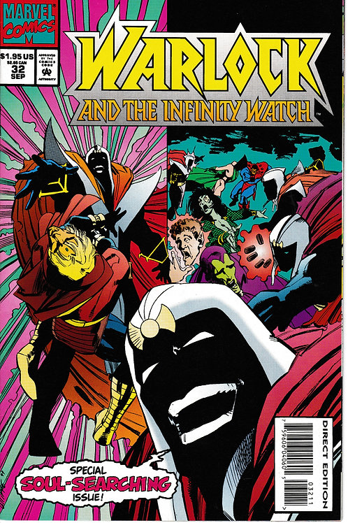 WARLOCK AND THE INFINITY WATCH 32 Marvel Sep 94 Count Abyss Defeats the Watch