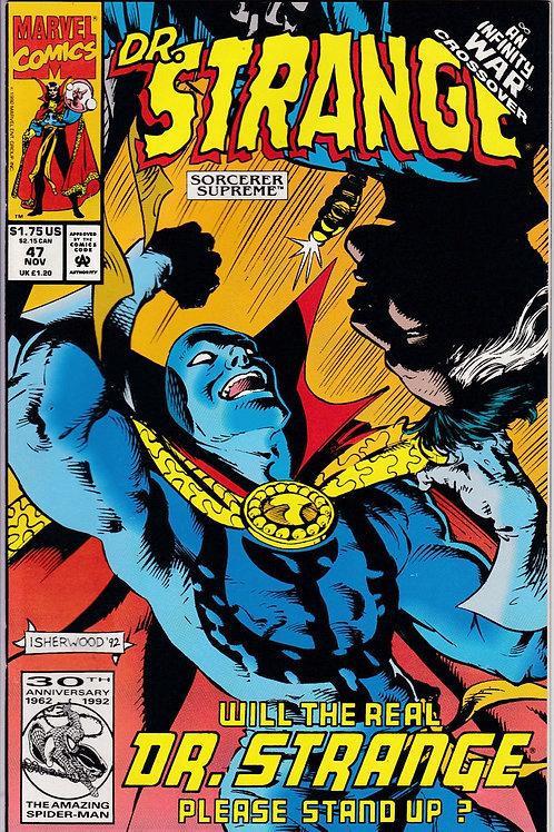DOCTOR STRANGE SORCERER SUPREME 47 Marvel Nov 92 Infinity War X-Over