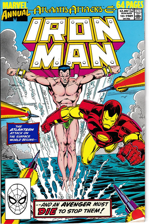 IRON MAN ANNUAL 10 1989 Atlantis Attacks X-Over