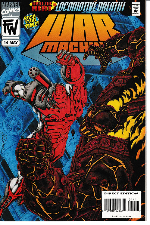 WAR MACHINE 14 Marvel May 95 Scarlet Witch & Nick Fury Cameo