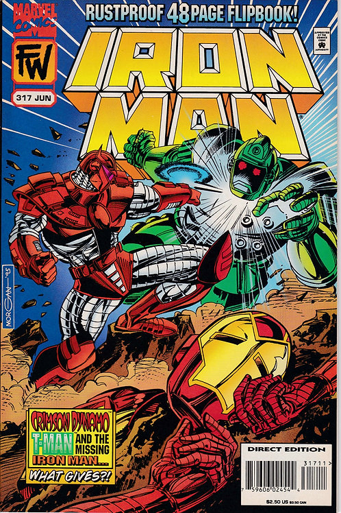 Iron Man 317 Flip Bk Black Widow Death of Titanium Man