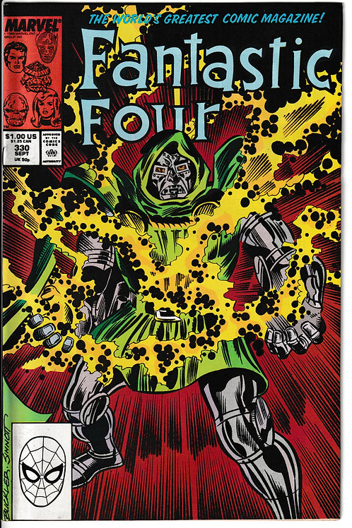 FANTASTIC FOUR 330 Sept 89 Good Dreams 1st $1 issue