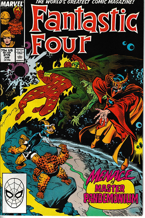 FANTASTIC FOUR 315 Jun 88  New Old Stock Never Read Pandemonium & Comet Man