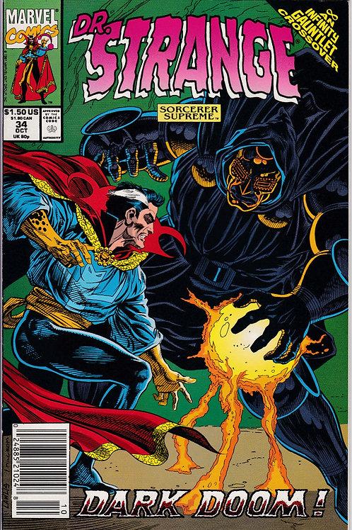 DOCTOR STRANGE SORCERER SUPREME 34 Marvel Oct 91 Infinity Gauntlet X-Over