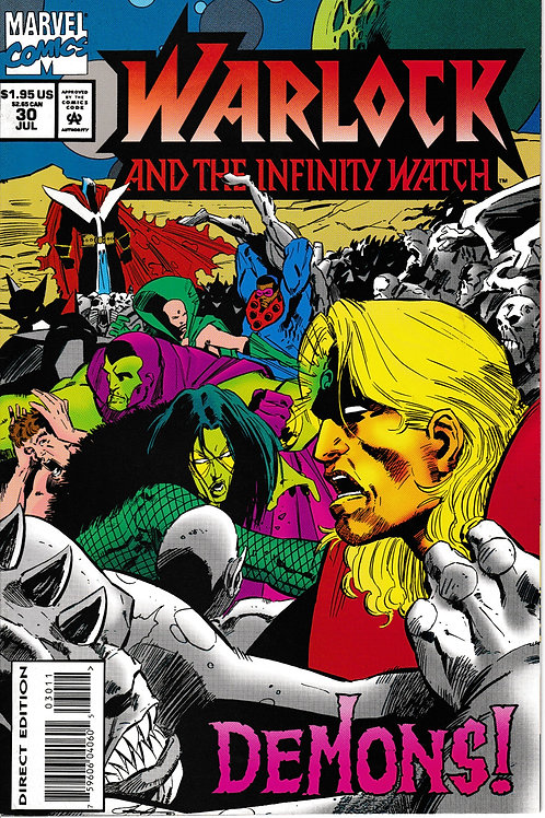 WARLOCK AND THE INFINITY WATCH 30 Marvel Jul 94 Count Abyss Appearance