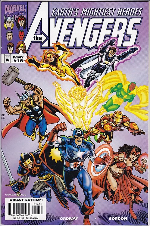 AVENGERS 16 Vol 3 Marvel May 99 N/M Purple Variant Cover