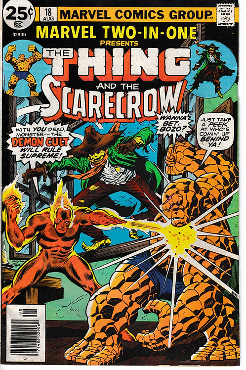 MARVEL TWO-IN-ONE 18 THE THING & SCARECROW