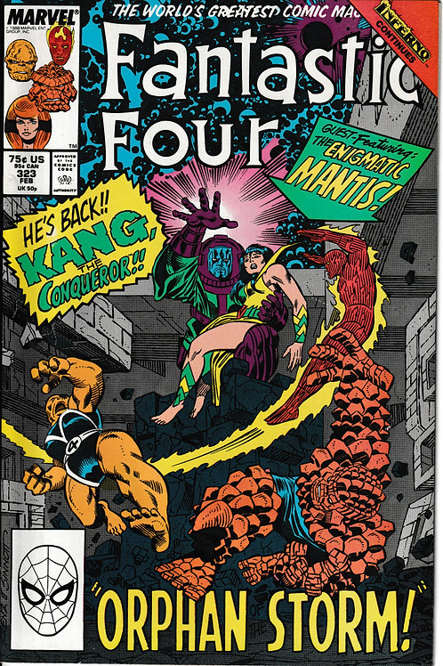 FANTASTIC FOUR 323 Feb 89 New Old Stock Never Read Inferno Crossover