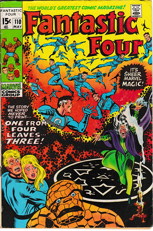 FANTASTIC FOUR 110 May 71  Marvel Vol 1 Corrected Version Orange Thing
