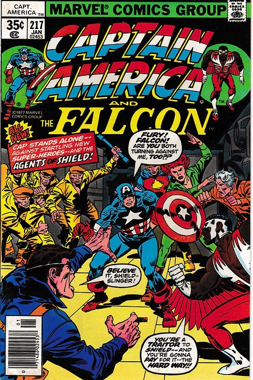 CAPTAIN AMERICA 217 Jan 78 Introducing Marvel Boy Becomes Quasar