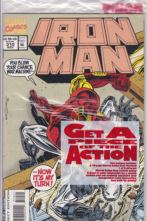 Iron Man 310 Polybagged includes Marvel Acrion Preview