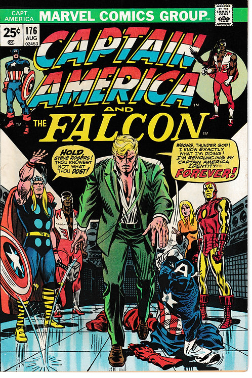 CAPTAIN AMERICA 176 Aug 74 End of Cap. Avengers Appearance