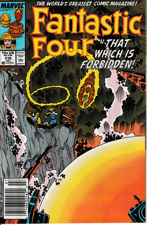 FANTASTIC FOUR 316 Jul 88 New Old Stock Never Read Origin of the Savage Land