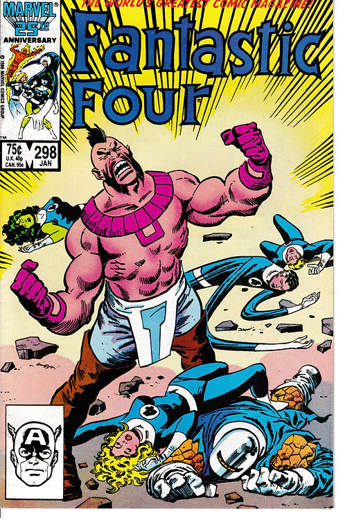 FANTASTIC FOUR 298 Jan 87 Closer than Brothers Part 2 of 2