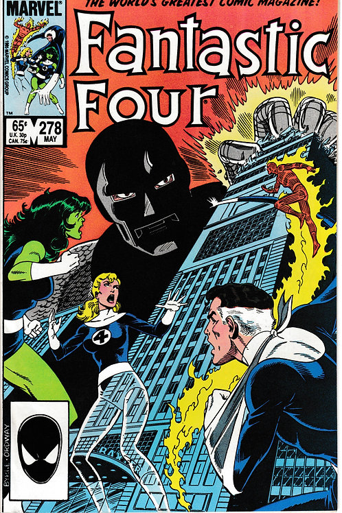 FANTASTIC FOUR 278 May 85 Kristoff Becomes new Dr Doom