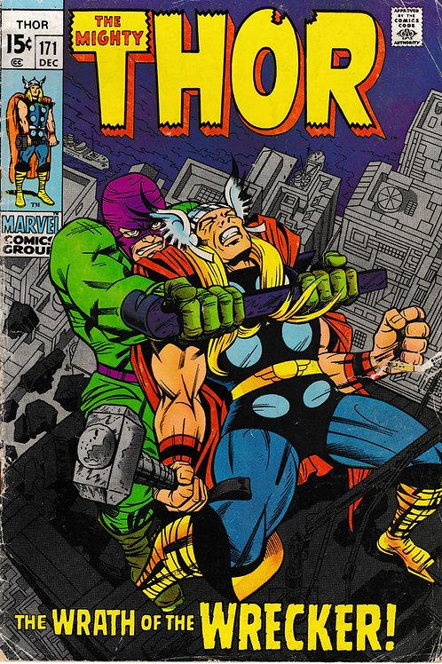 THOR 171 Marvel Dec 67 Stan Lee Script Pencils Jack Kirby Wrecker Appearance