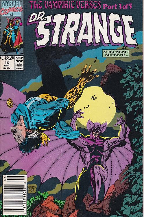 DOCTOR STRANGE SORCERER SUPREME 16 Marvel Apr 90  Vampiric Verses Pt 3