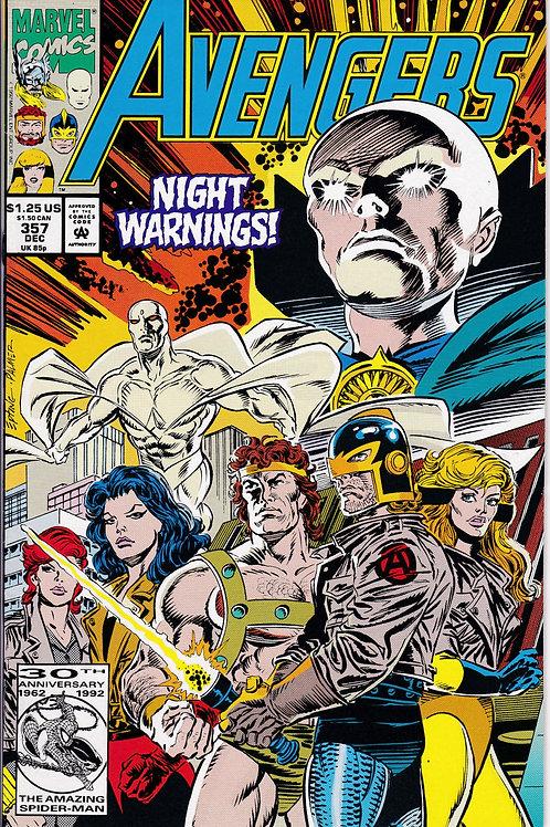 AVENGERS 357 Marvel Vol 1 Dec 92 Guest Stars The Watcher