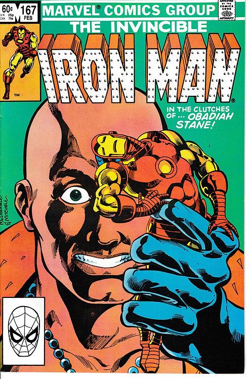 IRON MAN 167 Feb 83 Marvel Tony Stark Alchohol Problem?