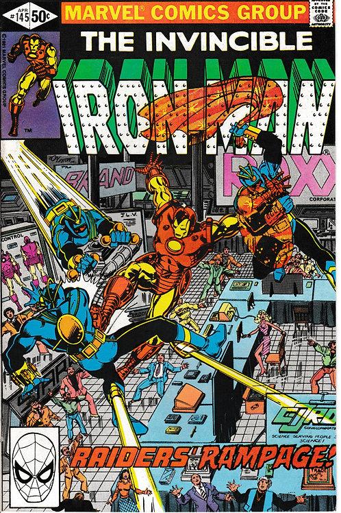 IRON MAN 145 Apr 81 Iron Man & Scott Lang battle the Raiders