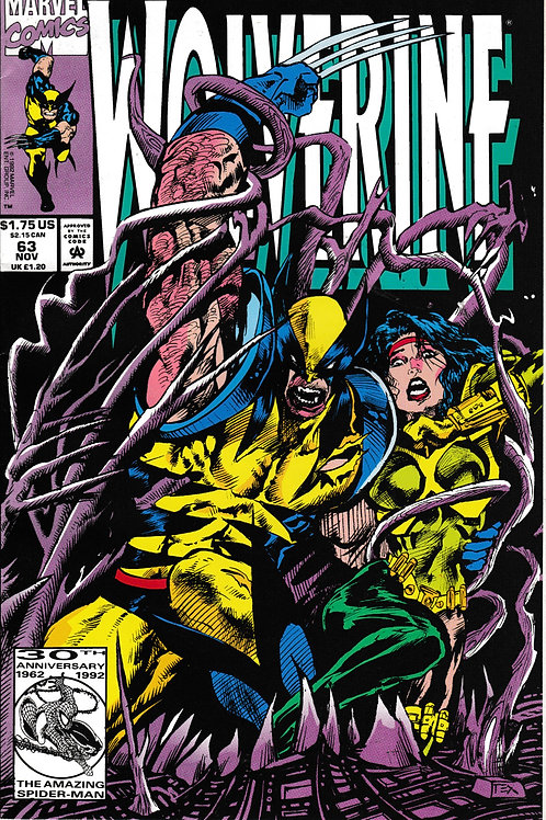 WOLVERINE 63 Nov 92 Guest-stars Jubilee & Maverick X-Men
