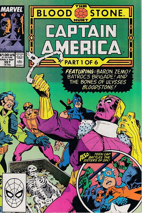 Captain America 357 BloodStone Pt 1 Baron Zemo App